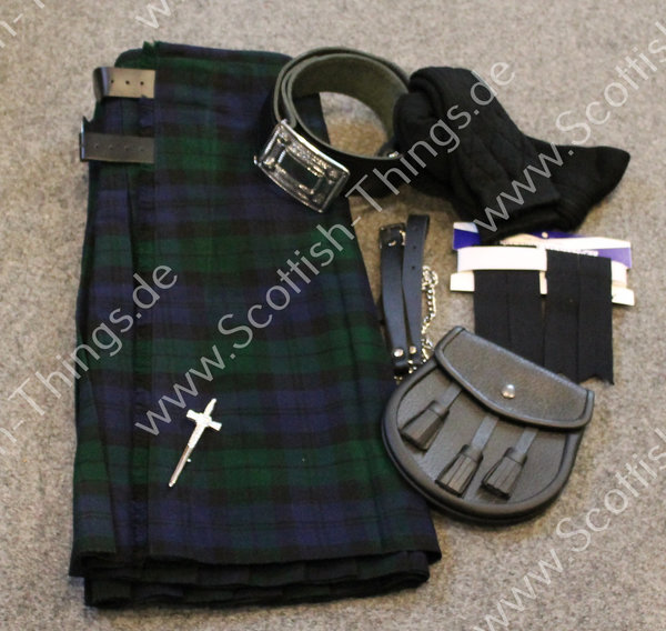 Kilt Outfit Black Watch Gr. 30 inch