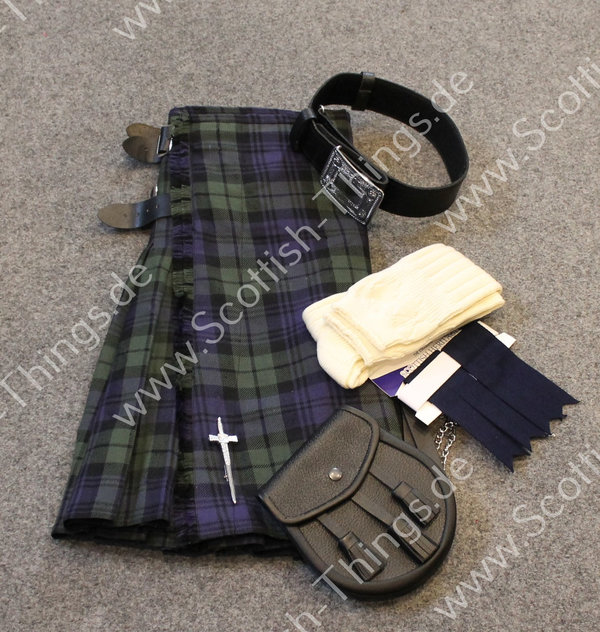 Kilt Outfit Black Watch ancient Gr. 38 inch